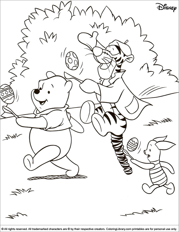 Printable Easter Disney coloring page