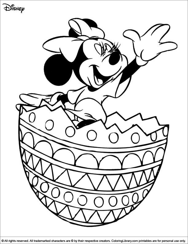 Easter Disney coloring book sheet