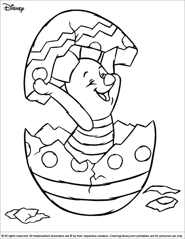 Cool Easter Disney coloring page