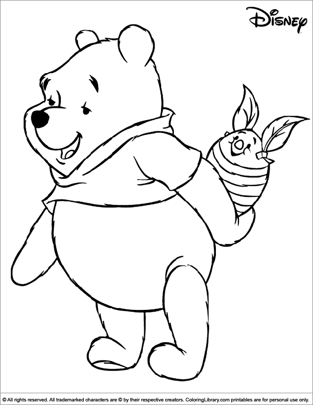 Fun Easter Disney coloring page