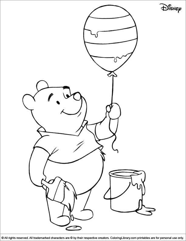 Easter Disney printable coloring page for kids