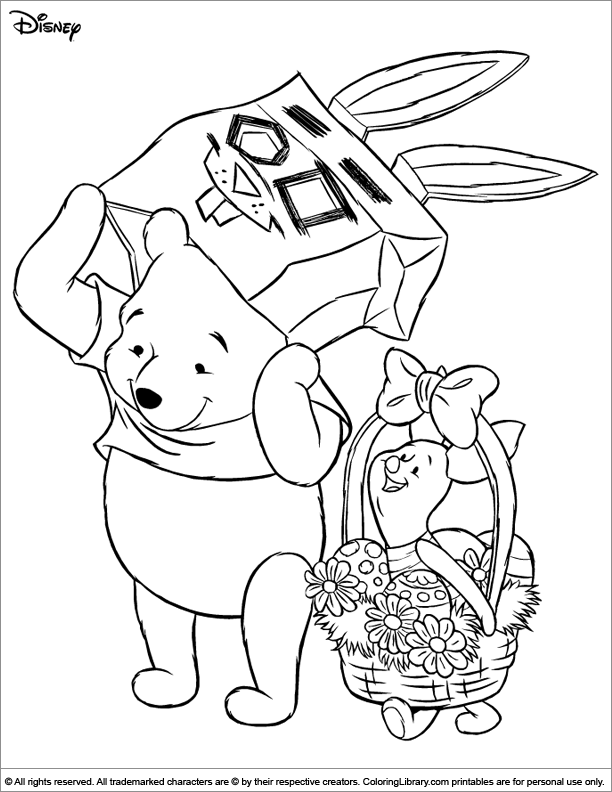 Easter Disney coloring picture