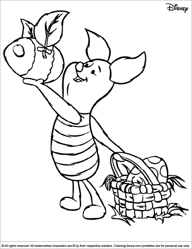Easter Disney coloring sheet to print