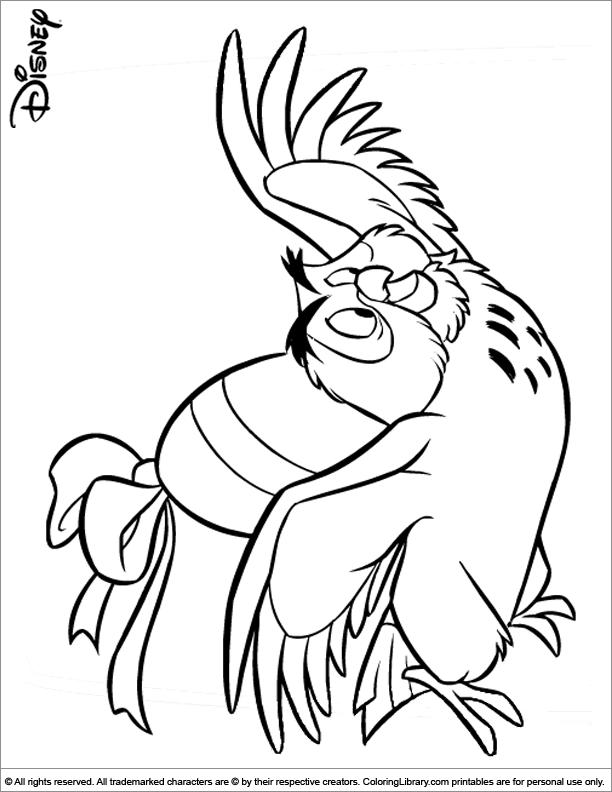 Easter Disney coloring printable