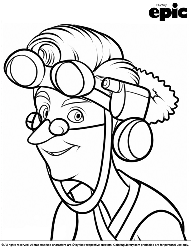 Epic coloring page that you can print