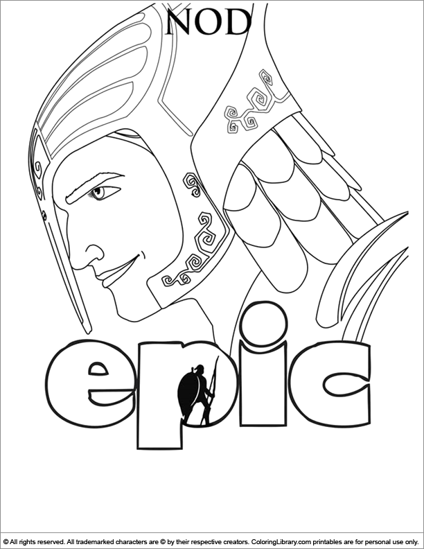 Epic fun coloring picture