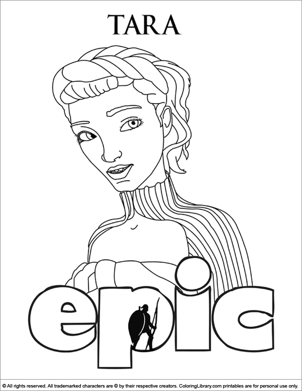 Epic coloring page for kids