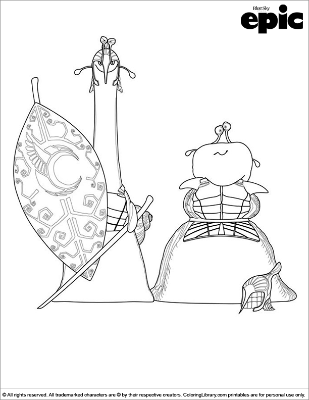Epic printable coloring page