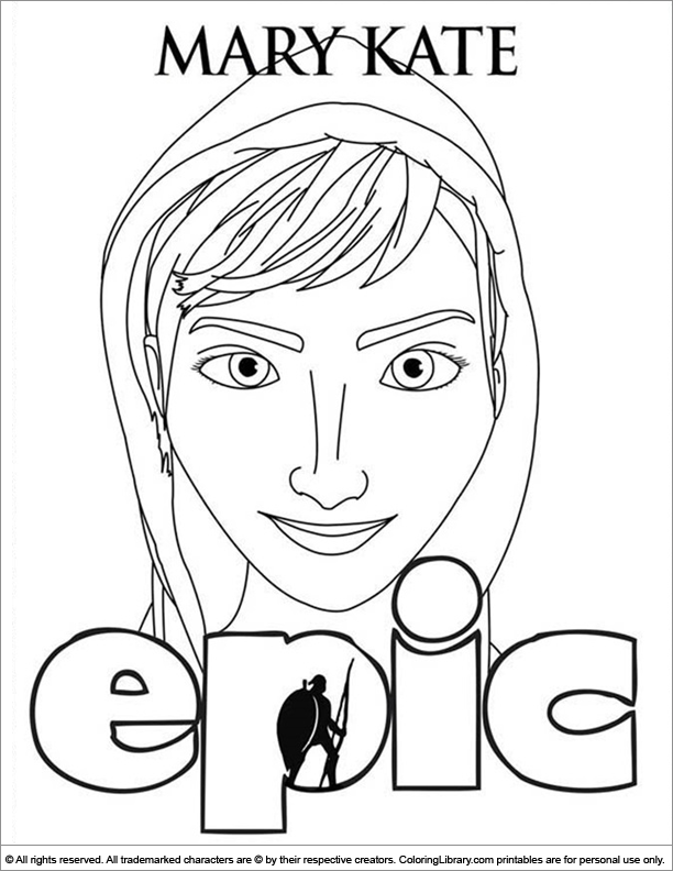 Epic coloring page online