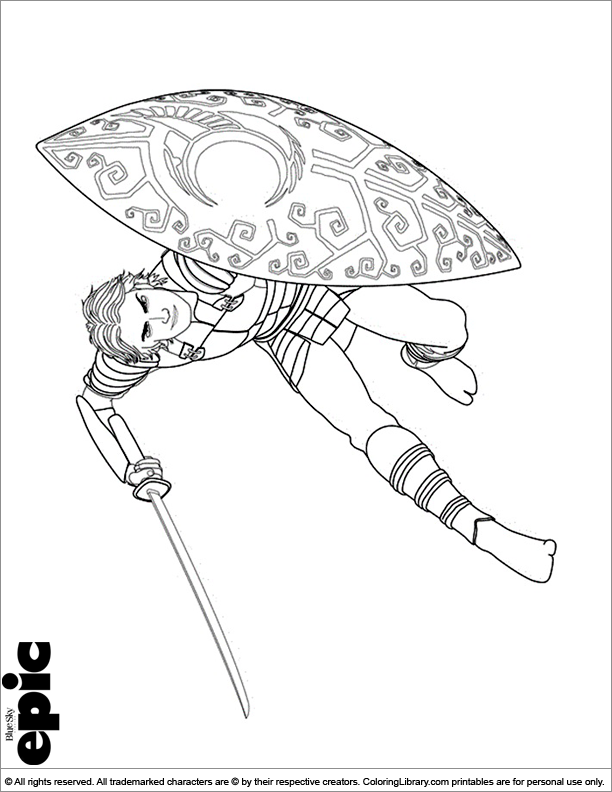 Epic fun coloring page