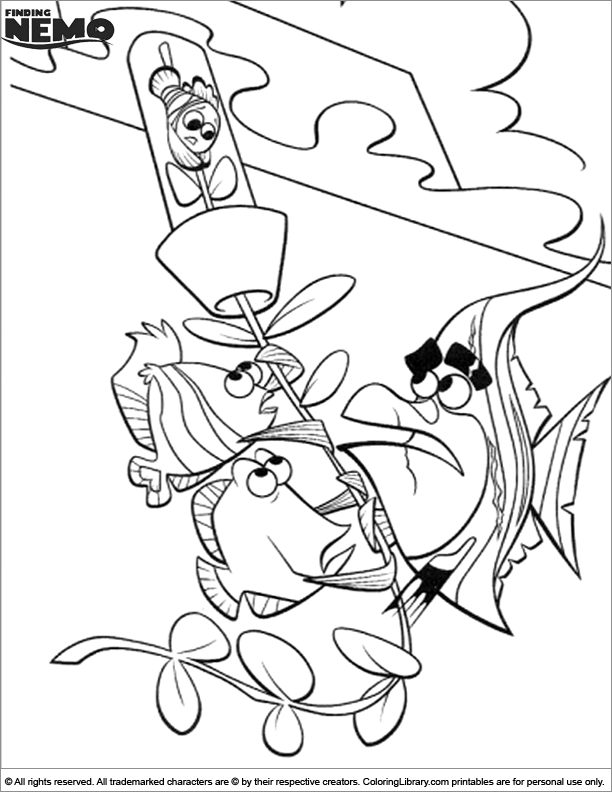 Finding Nemo coloring page fun