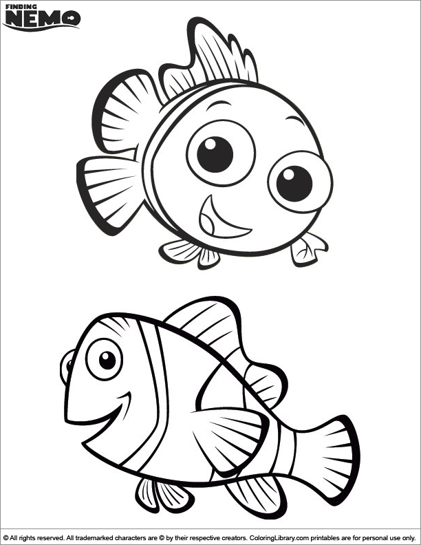 Finding Nemo coloring fun