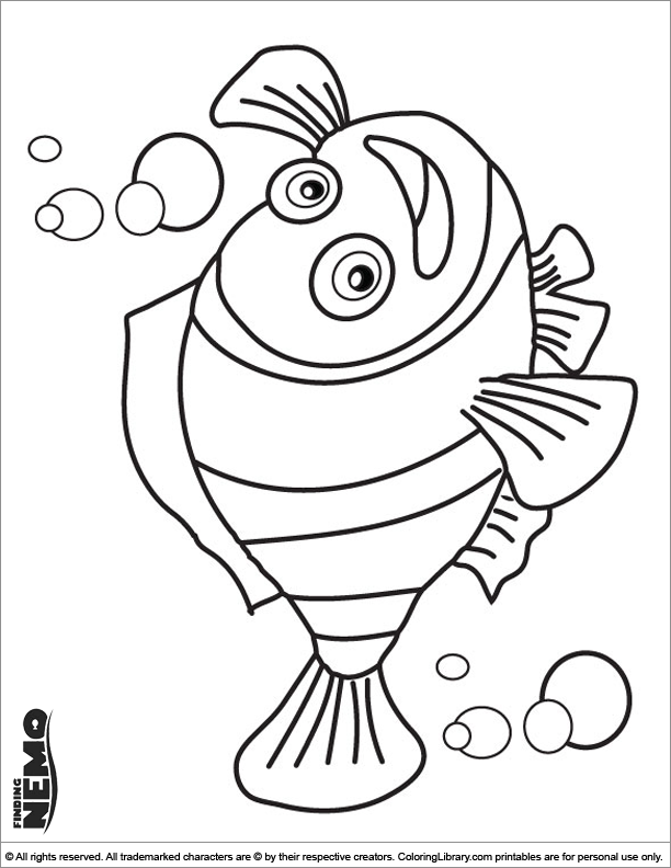 Finding Nemo free coloring page