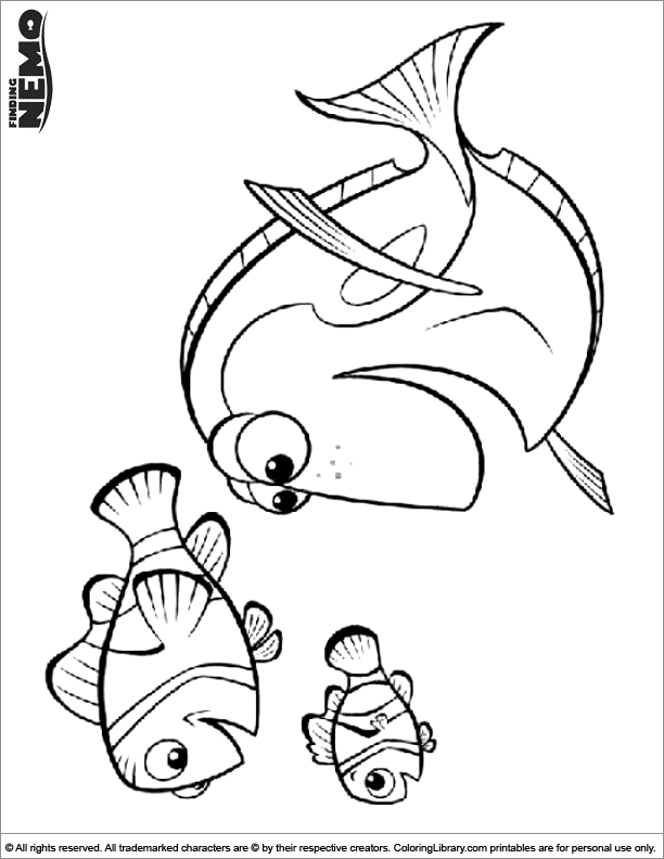 Finding Nemo printable coloring page