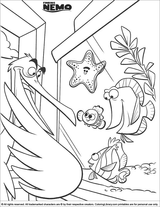 Finding Nemo coloring page for children