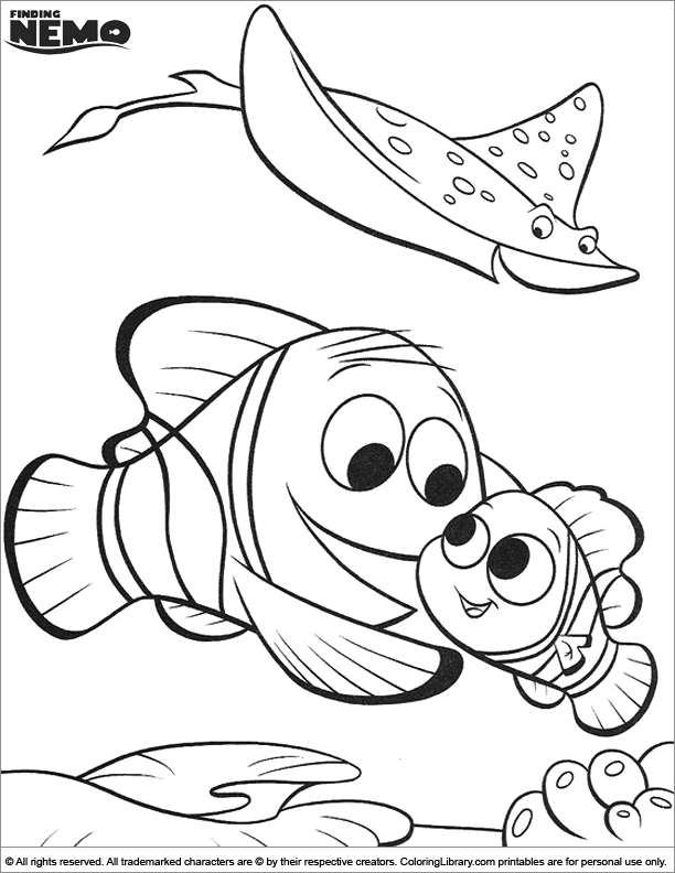 - Finding Nemo Coloring Pictures For Kids - Coloring Library