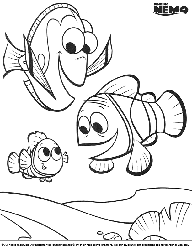 Finding Nemo coloring page free