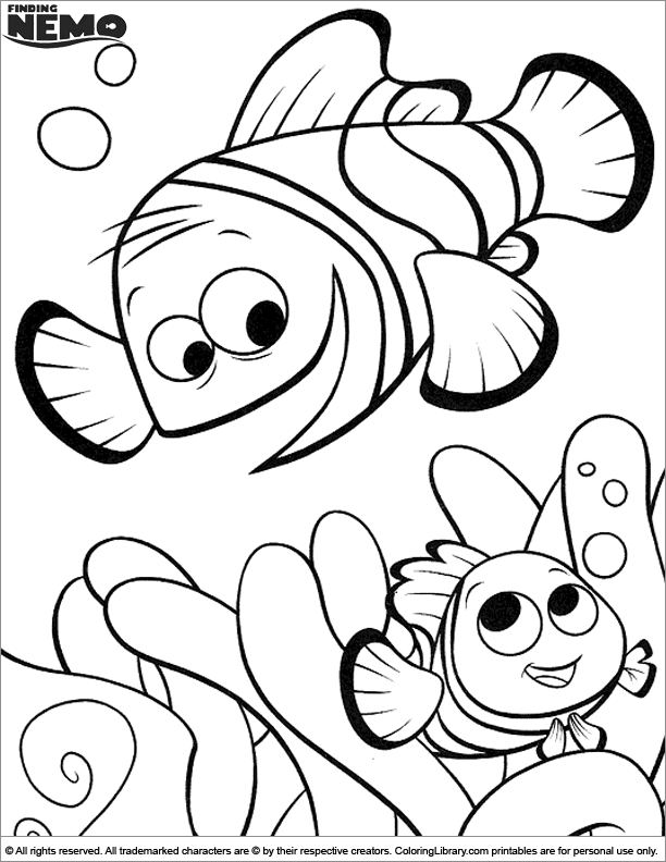Finding Nemo free online coloring page