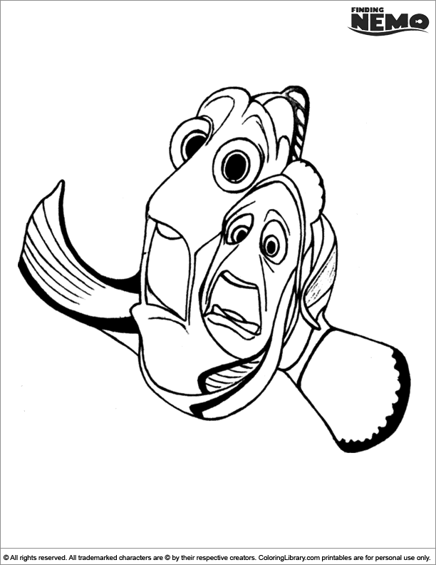 Finding Nemo free coloring picture