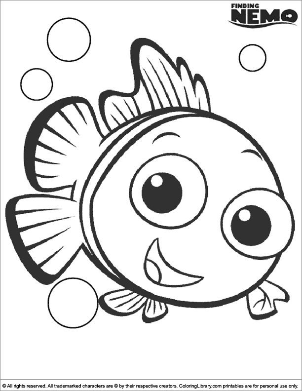 Amazing Finding Nemo coloring page