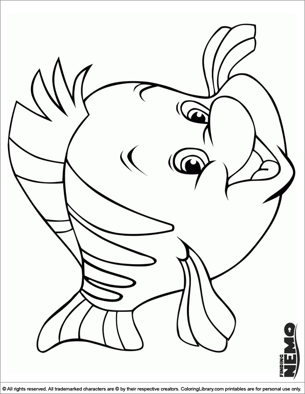 Finding Nemo free coloring page for children