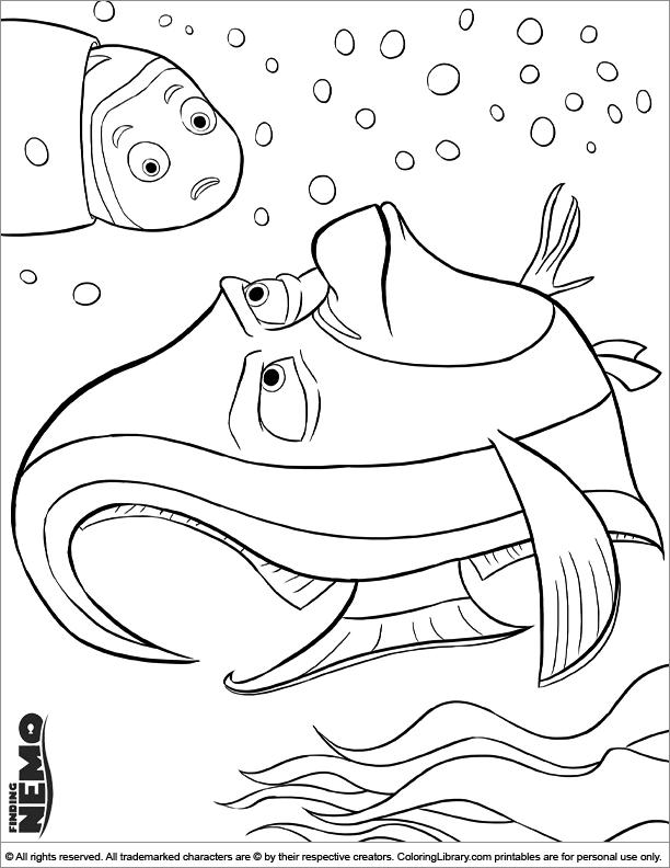 Finding Nemo printable page