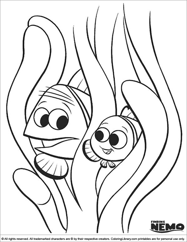 Finding Nemo fun coloring sheet