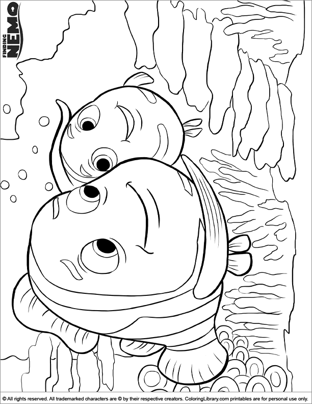 Finding Nemo picture to print and color