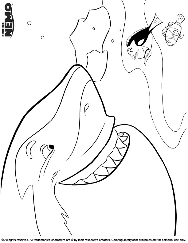 Finding Nemo fun coloring picture