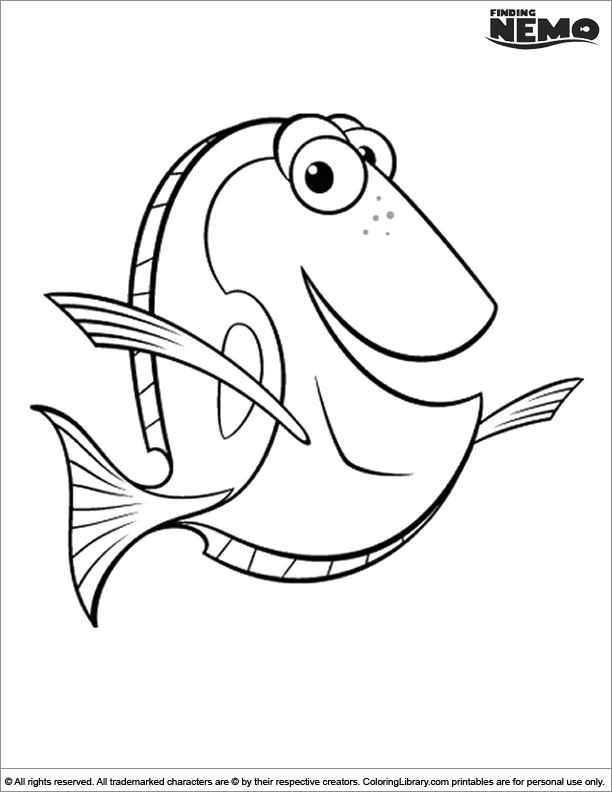 - Finding Nemo Colouring Book - Coloring Library