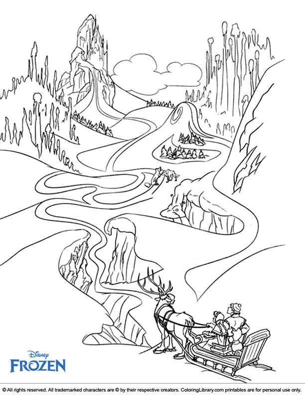 Cool Frozen coloring page