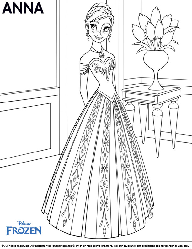 Fun Frozen coloring page