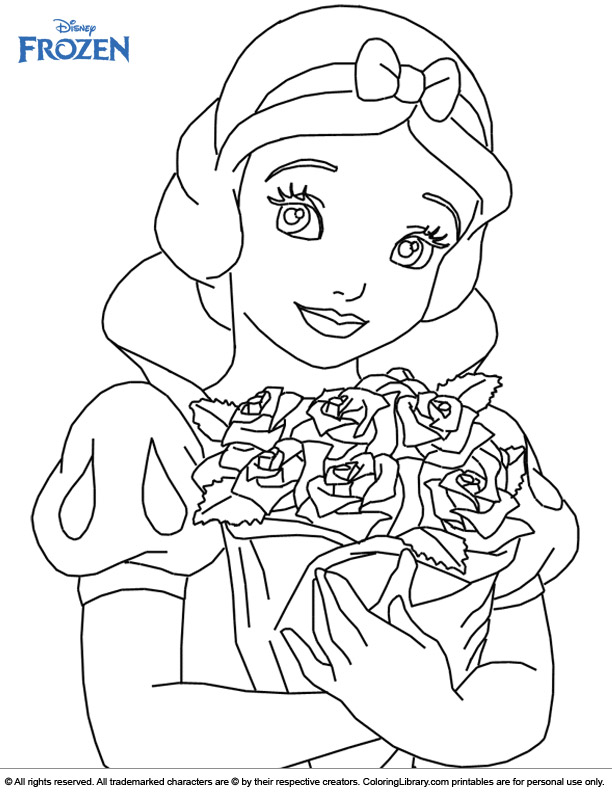 - Frozen Color Book Page - Coloring Library
