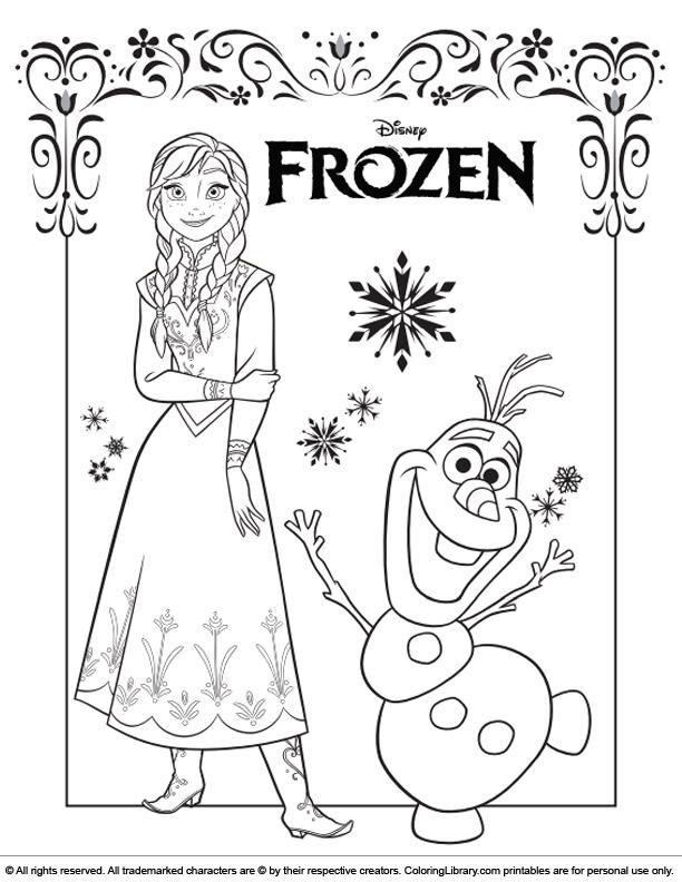 Frozen colour page