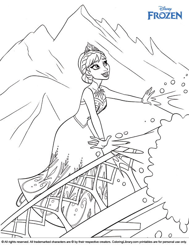Frozen coloring sheet to print