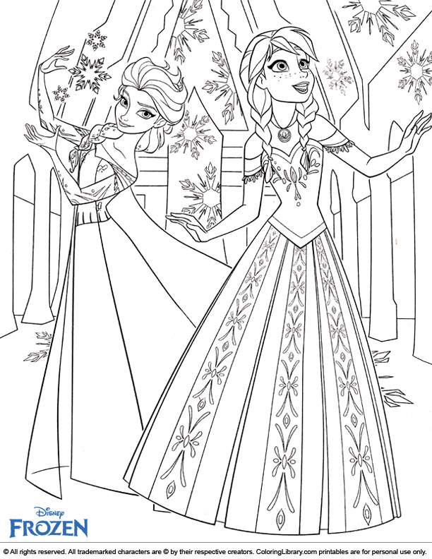 Frozen coloring image