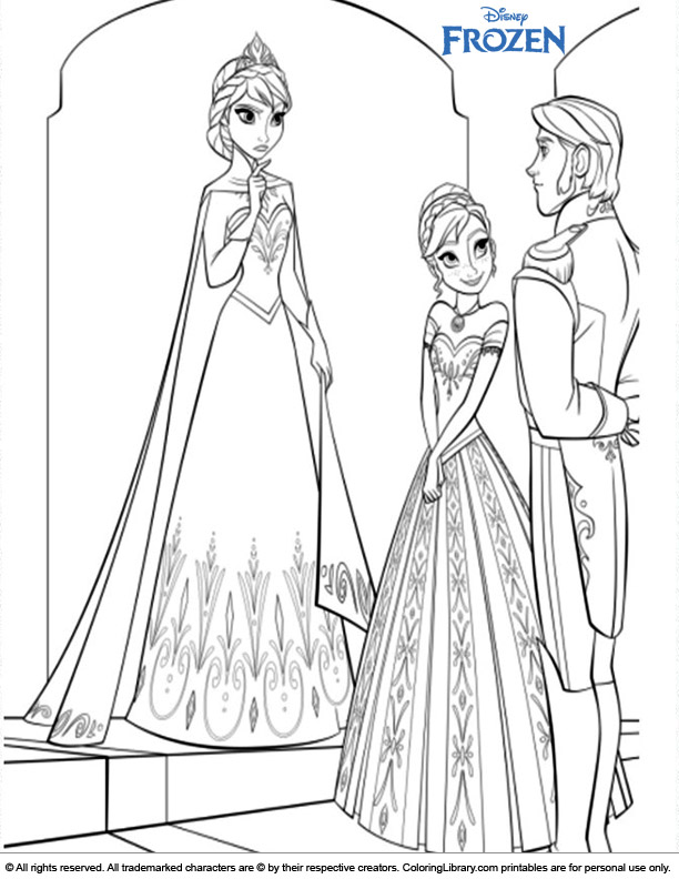 Frozen coloring page to print
