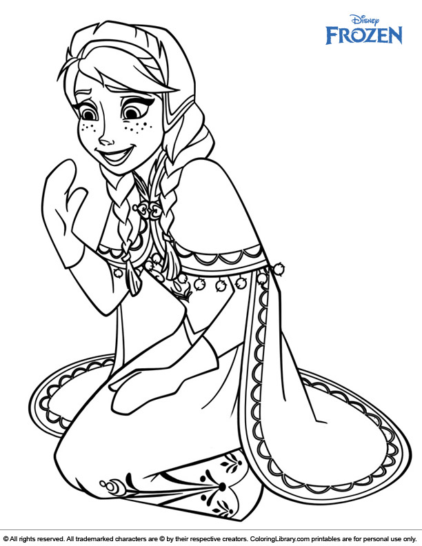 Frozen online coloring page
