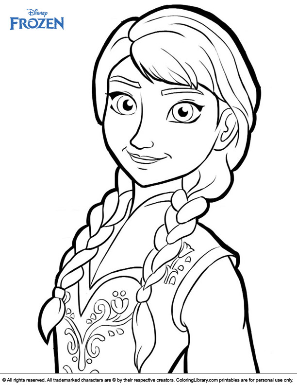 Frozen free coloring page
