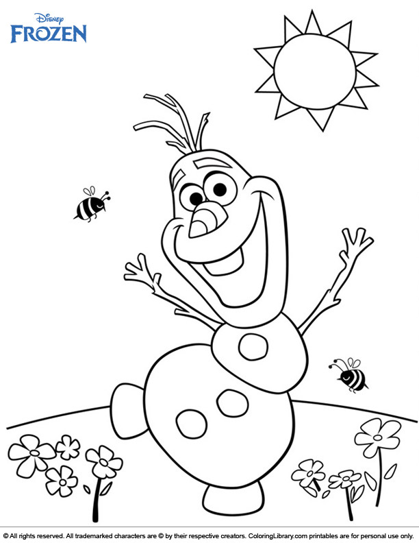 Frozen free printable coloring page