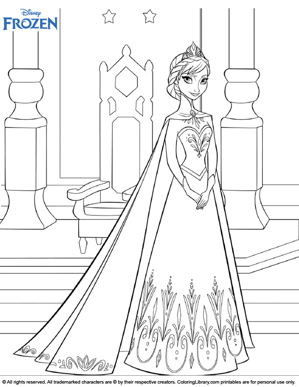 Frozen coloring sheets for kids