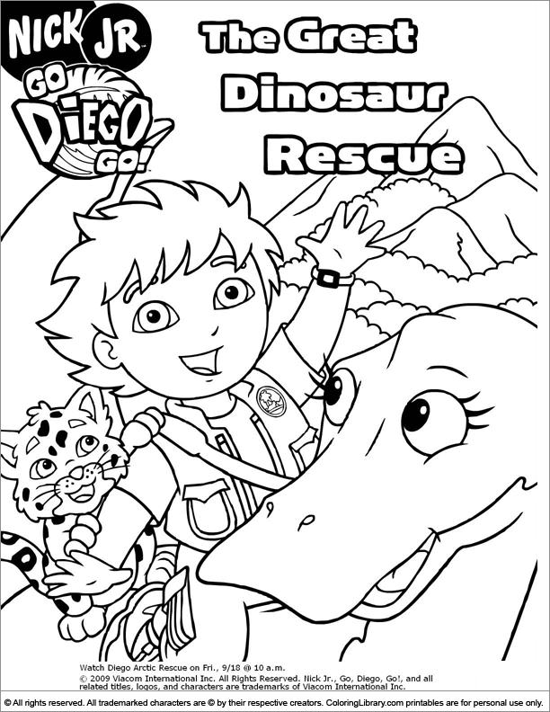 Go Diego Go coloring page fun