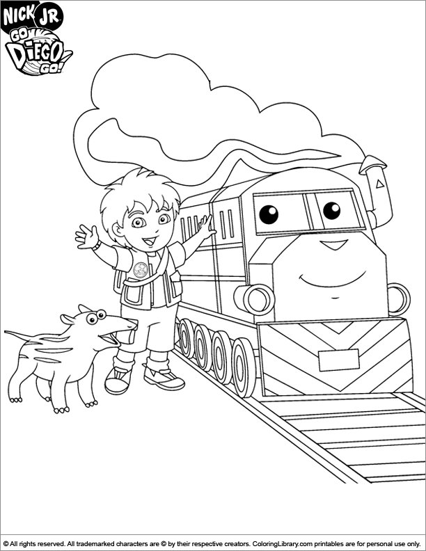 Go Diego Go color page - Coloring Library