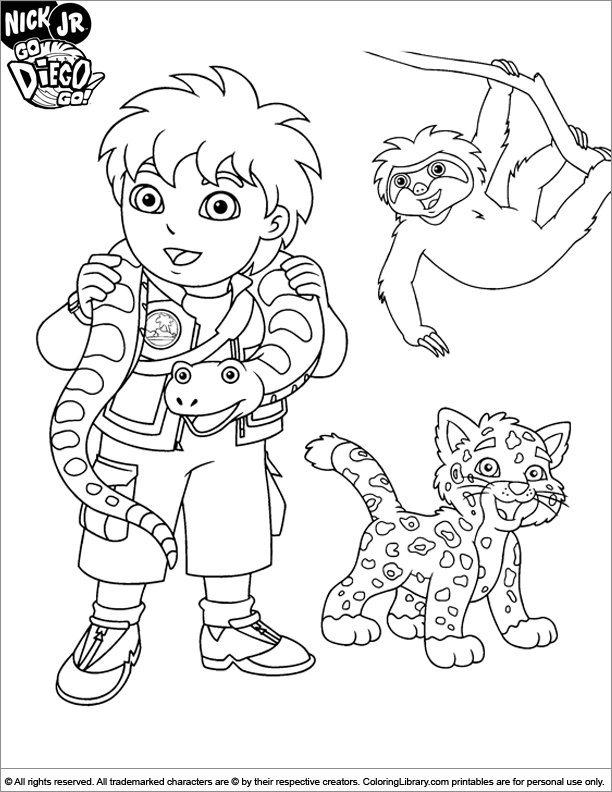 Diego Go Coloring Picture