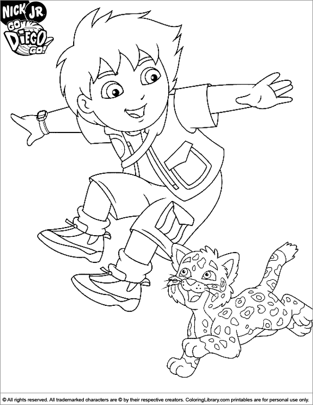 Go Diego Go coloring sheets for kids