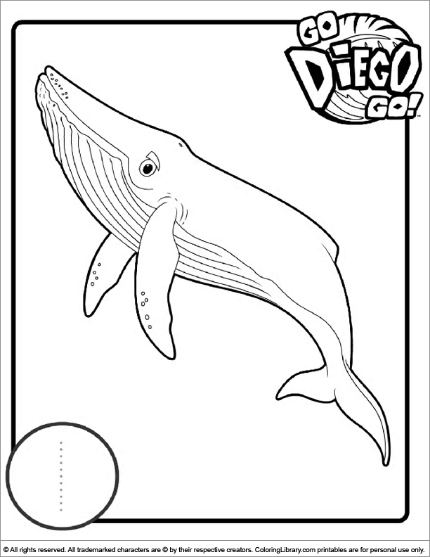 Go Diego Go printable coloring picture