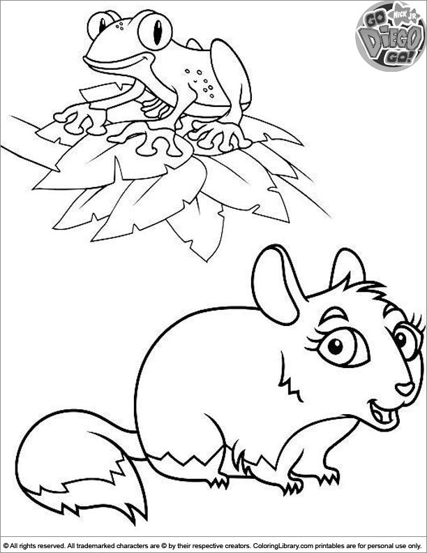 Go Diego Go coloring