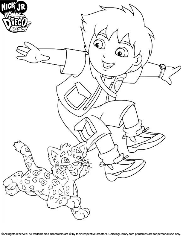 Go Diego Go Coloring Picture Pictures To Color