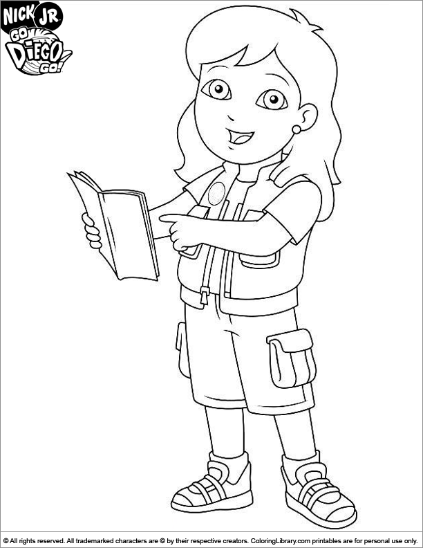 fabulous go diego go coloring picture with diego coloring pages