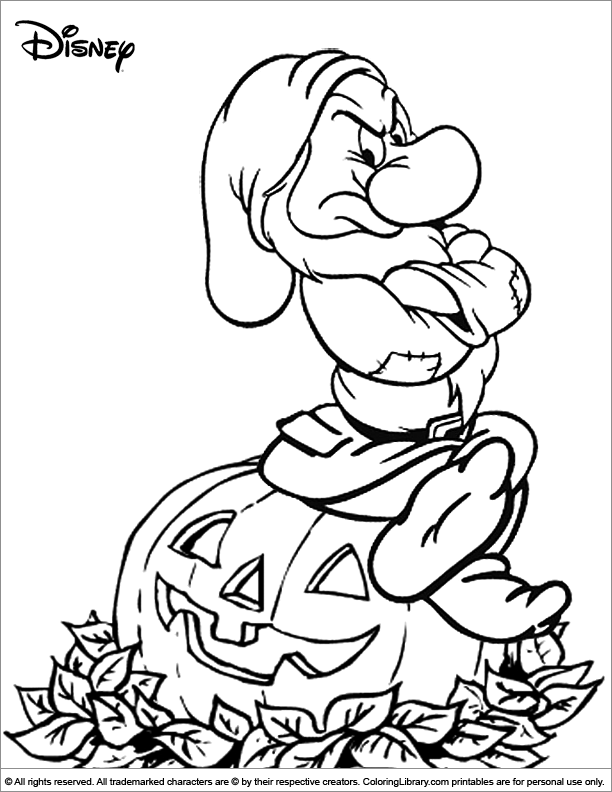 Halloween Disney coloring page for kids - Coloring Library